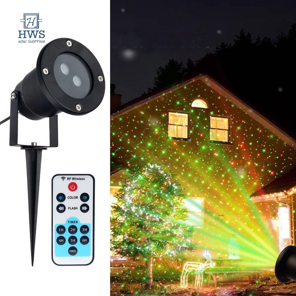 Christmas Star Laser Projector Light LED Moving Outdoor Landscape Stage RGB Lamp