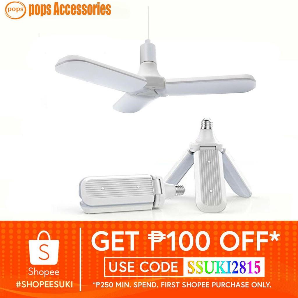 228 LED 45W High Bright Foldable Fan Blade LED Bulb