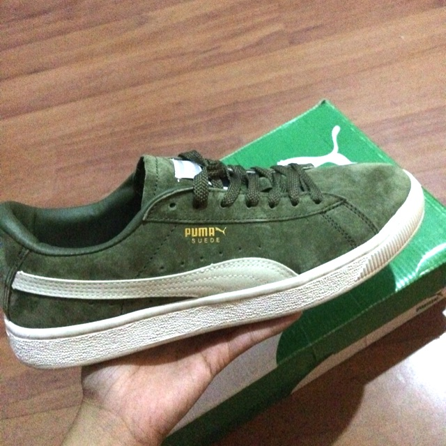 Original Puma Suede Army Green