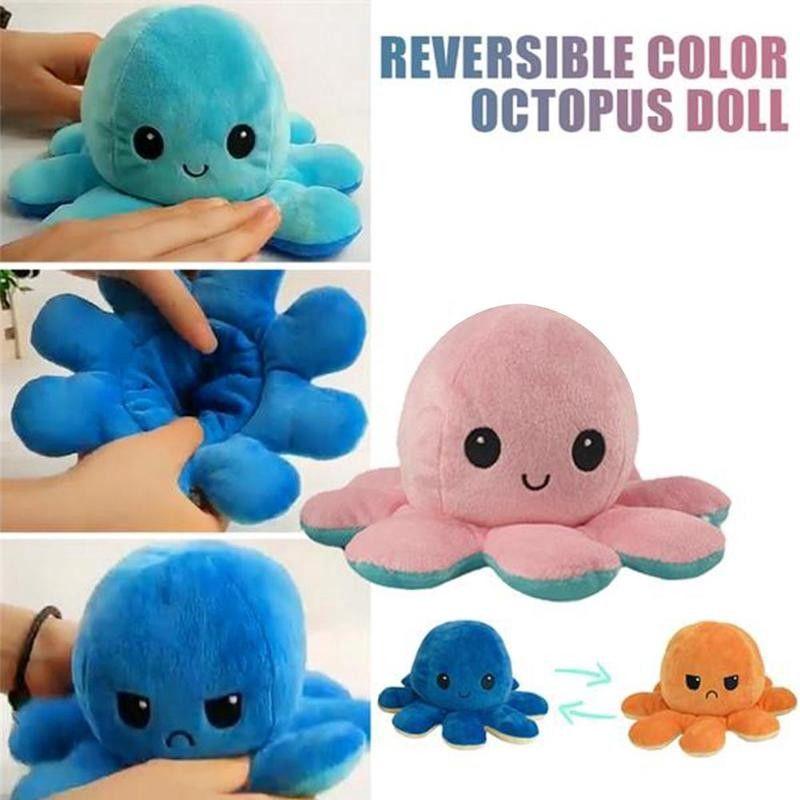 Octopus Reversible Pillow Stuffed Soft Doll Animals Dolls Kids Plush Toy Animal