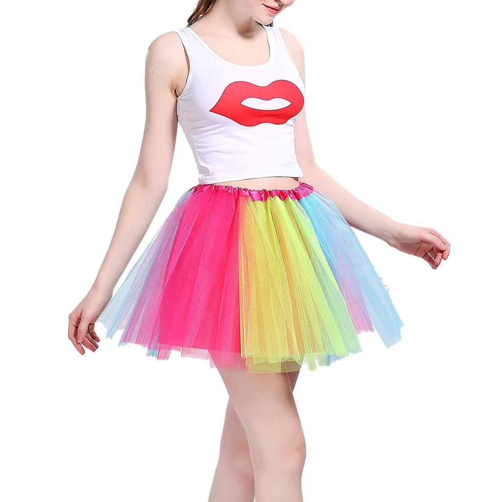 UK Kid Girls Ballerina Petticoat Layers Tutu Skirt Fancy Dance Dress 29 Colour