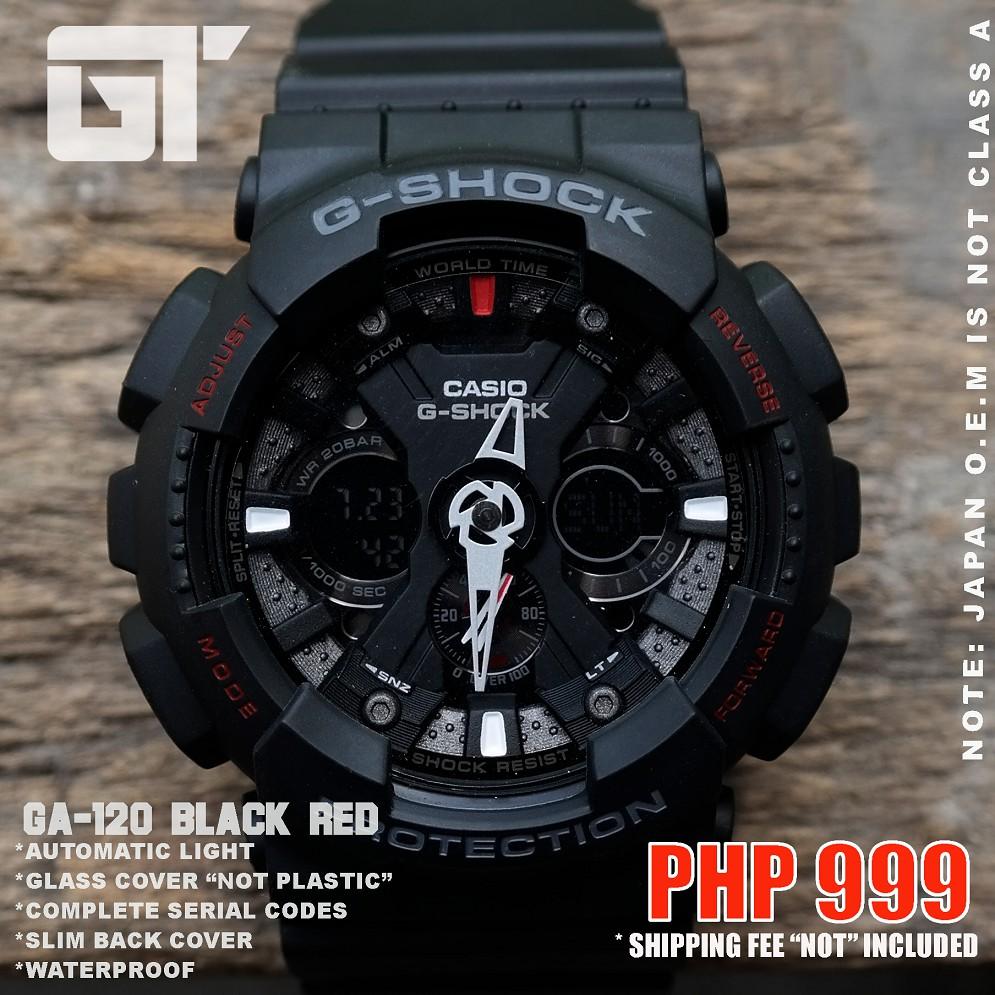 Cod G Shock Ga 120 Black Red Japan O E M