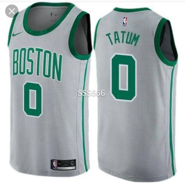 9cd3cd0afd1f7 Men 0 Jayson Tatum Jersey City Edition Gray Boston Jersey | Shopee  Philippines