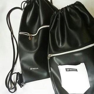 3986cbf36a69 Leather Drawstring Bag