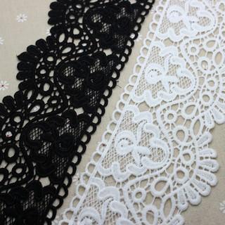 1yd Vintage Rose Pearl Lace Edge Trim Wedding Ribbon Applique DIY Sewing Craft