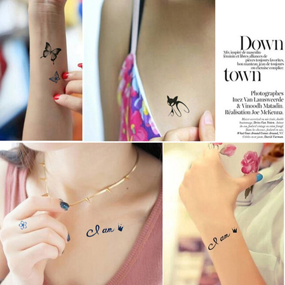 23d449e00 5PCS Unisex Cute Birds Removable Waterproof Temporary Tattoo Sticker |  Shopee Philippines