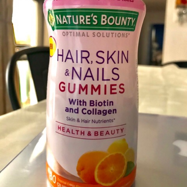 Nature S Bounty Hair Skin Nail Gummies W Biotin Collagen Exp Date Is 8 2020