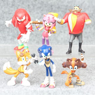 6Pcs/Set 7cm Sonic Figures Toy Pvc Toy Sonic Shadow Tails Characters