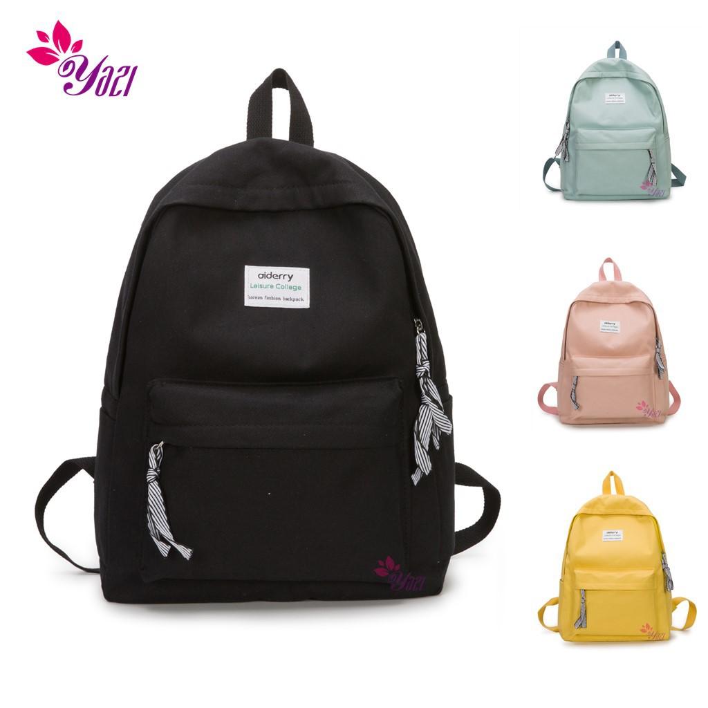 5ab52fee89e5 Yazi # 2582 Korean Canvas Twill School bag backpack