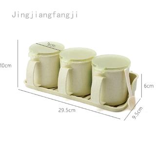 Kitchen Seasoning Box Set Spice Jars Condiment Sugar Salt Storage Container Case