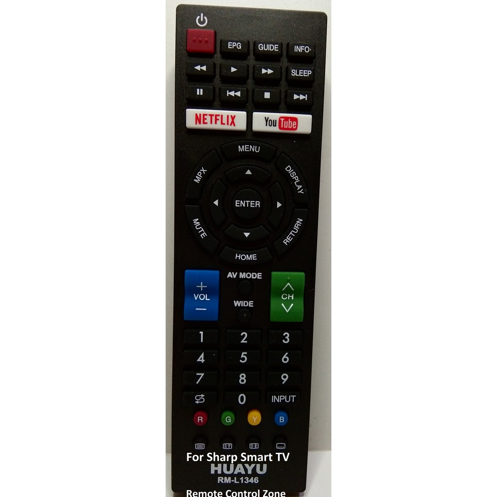 Sharp Smart TV Remote Replacement