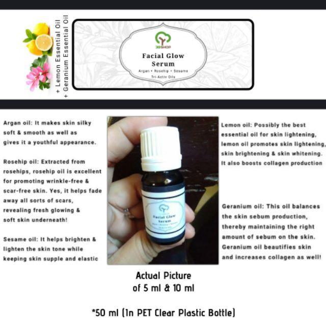 Facial Glow Serum | Argan + Rosehip + Sesame Oil