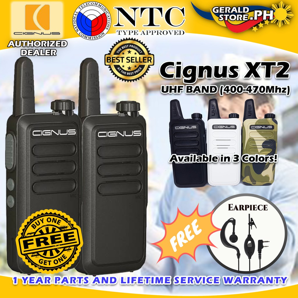 Buy 1 Take 1 Cignus XT2 Mini Two Way Radio FREE EARPIECE