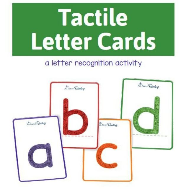 Tactile Letter Cards Activity
