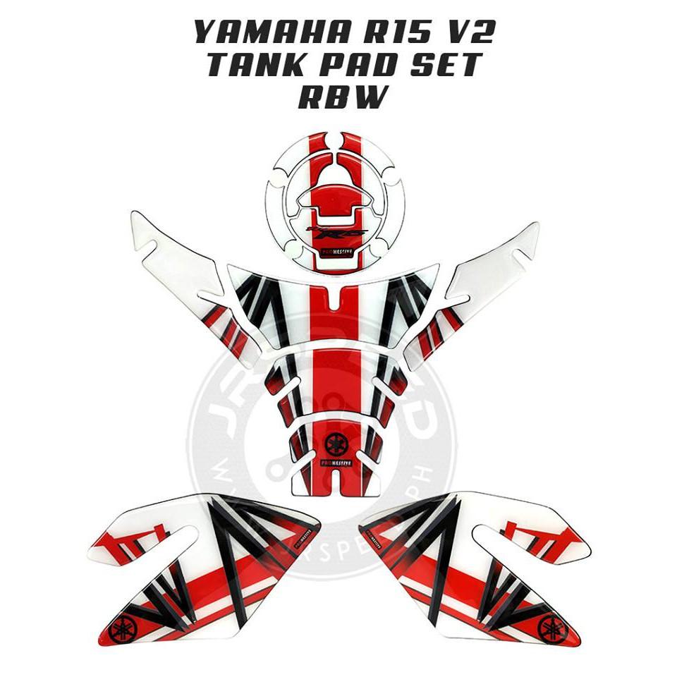 Yamaha R15 V2 Tank Pad Set RBW