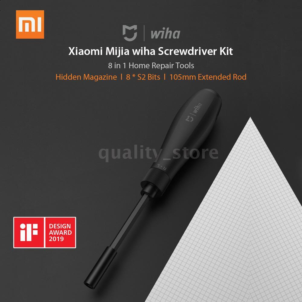 Xiaomi Mijia wiha Screwdriver Kit 8 in 1 S2 Steel Bits Home