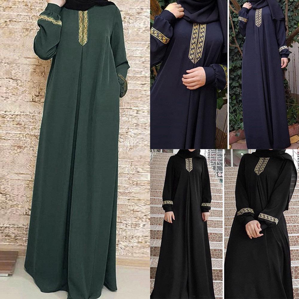 127f63c3763 Wanet LAAMEI 2019 Autumn Women Plus Size Long Sleeve Print Abaya Jilbab  Muslim | Shopee Philippines