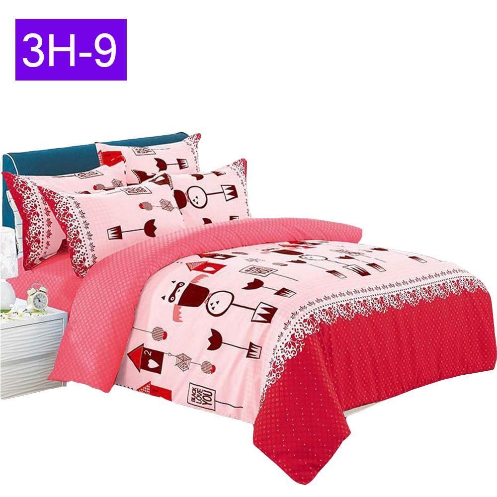 Bed Sales Online: EHOME 3 In 1 Queen Size Cotton Bedsheet Set Premium