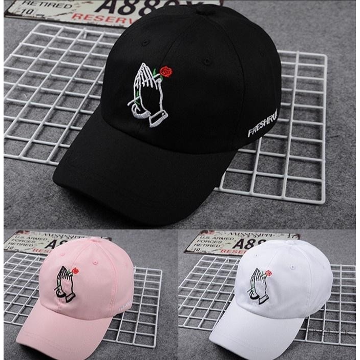 64a75205 ProductImage. ProductImage. Finelook Unisex Women Men Hat Flower Rose  Embroidered