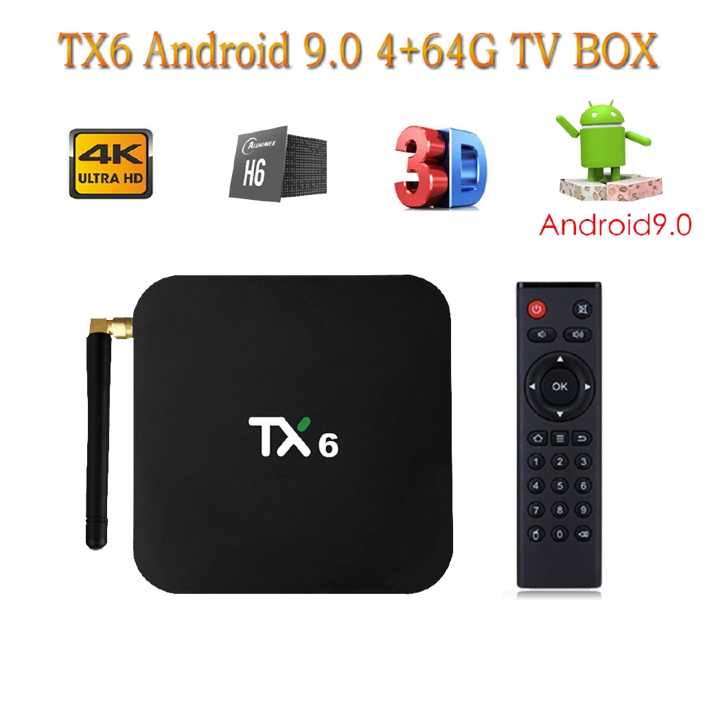 √TX6 Quad Core Android 9 0 TV BOX 4K Dual WIFI USB 3 0