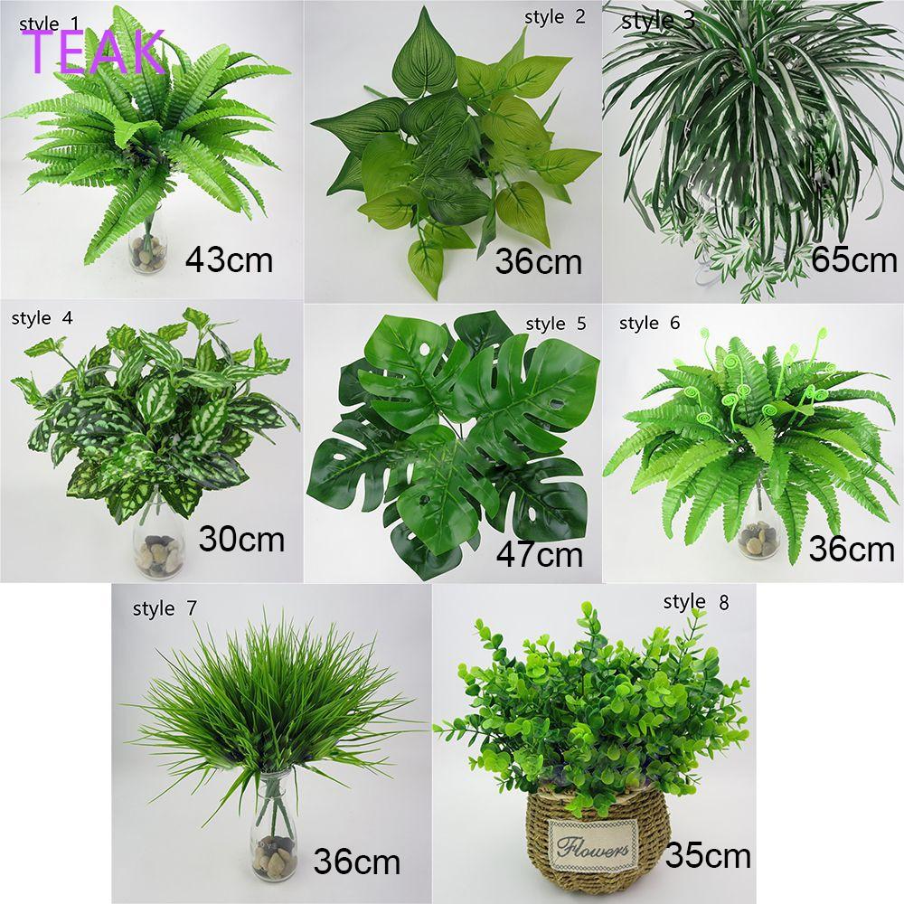Office Foliage Bush Fake Leaf Green Grass Artificial Plant