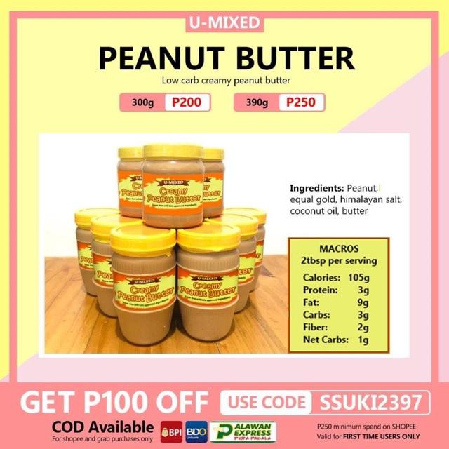 creamy KETO peanut butter