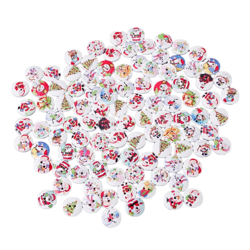 50pcs 2 Holes House Shaped Wooden Sewing Buttons for DIY Sewing Scrapbooking
