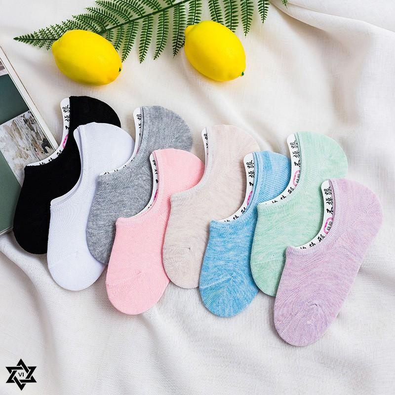 8b3c2bf21 ProductImage. ProductImage.  VI EDGE   Women s Silicone Non-slip Pure Color  Cotton Invisible Boat Socks