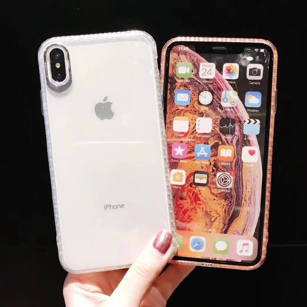 Bling Shining Transparent Case For iPhone XS Max XR 8plus