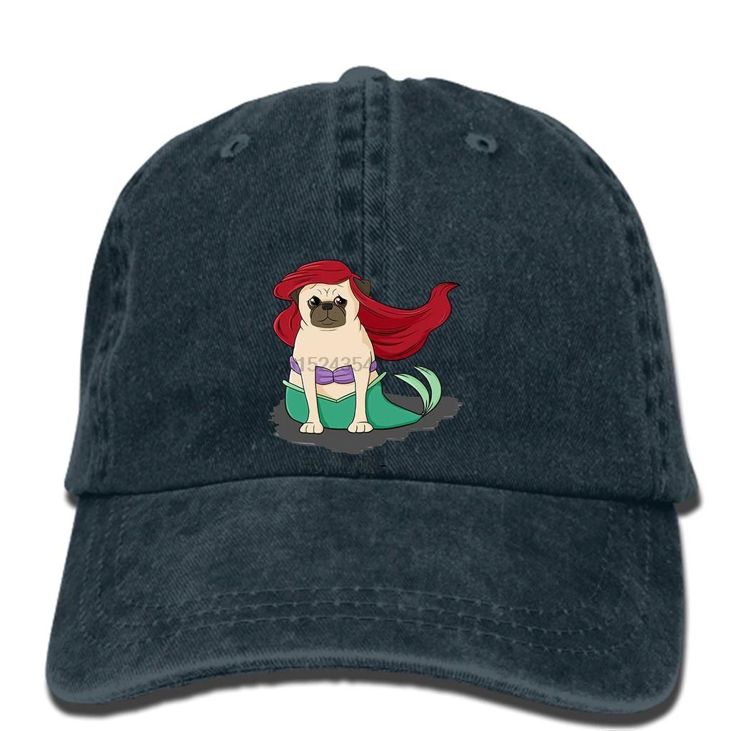 7513385c19308 hat The Little Mer Pug Little Mermaid Baseball cap