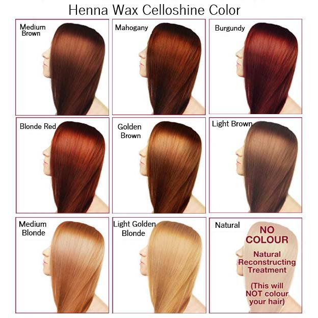 Henna Wax Color Celloshine Cellophane With Keratin Shine