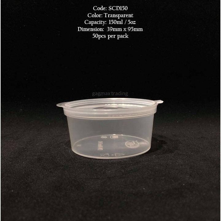 d193ca2f23c 50pcs Clear sauce cups with lids 1.5oz 2.5oz 3.5oz