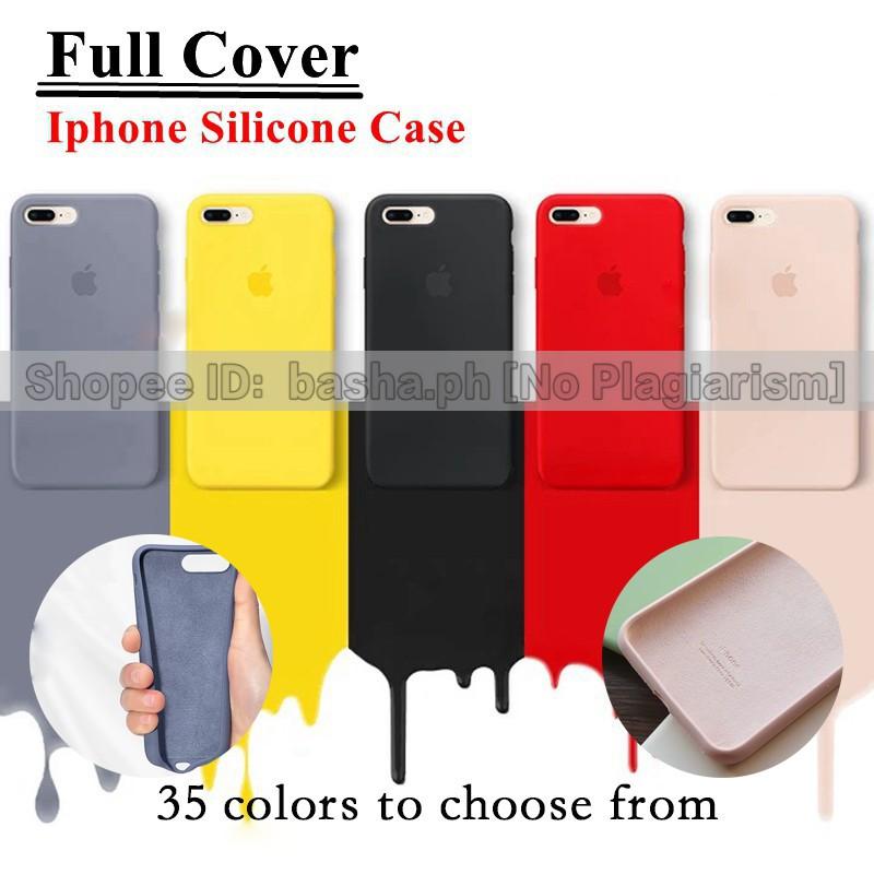 pretty nice d0272 bfa75 iPhone Full Cover 6/7/8/X/XS/XR/Max Liquid Silicone Case