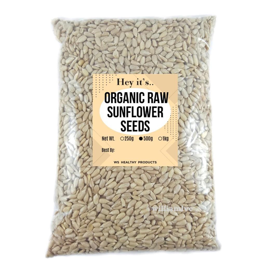 Organic Raw Austrian Sunflower Seeds (500g/1kg)