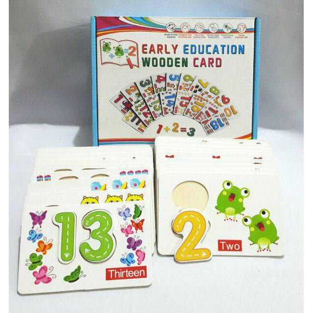LGTS Early Educational Wooden Cards