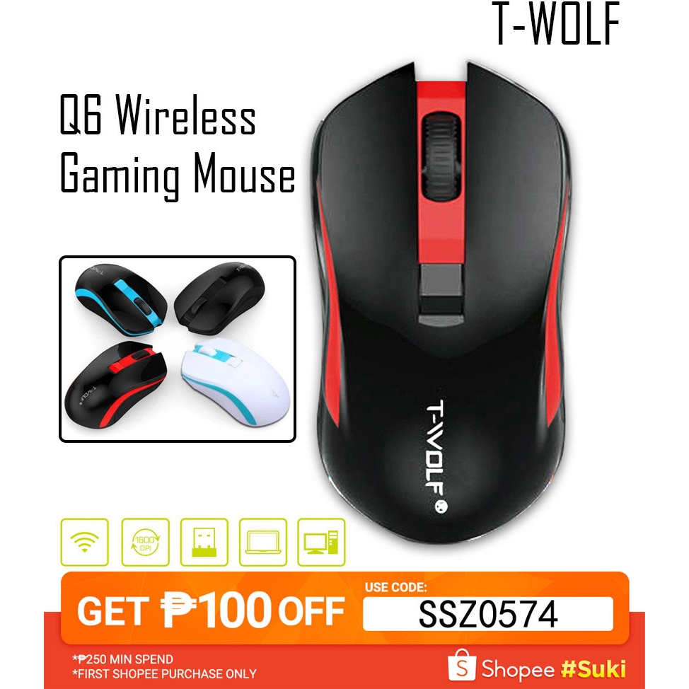 JJJ Computer Mice 2.4G Wireless Mouse Notebook Desktop Universal Home Office Game Programming Mute Mouse