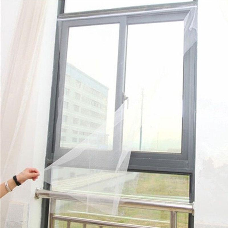 Fashion Mesh Window Magic Curtain Snap Fly Bug Insect Mosquito Screen Net White
