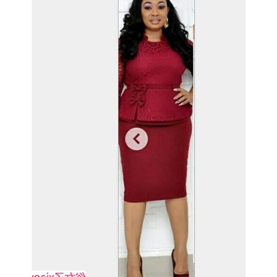 Offe Pencil Dress Fat Woman Big Size Clothes 4xl Women 3xl Shopee Philippines