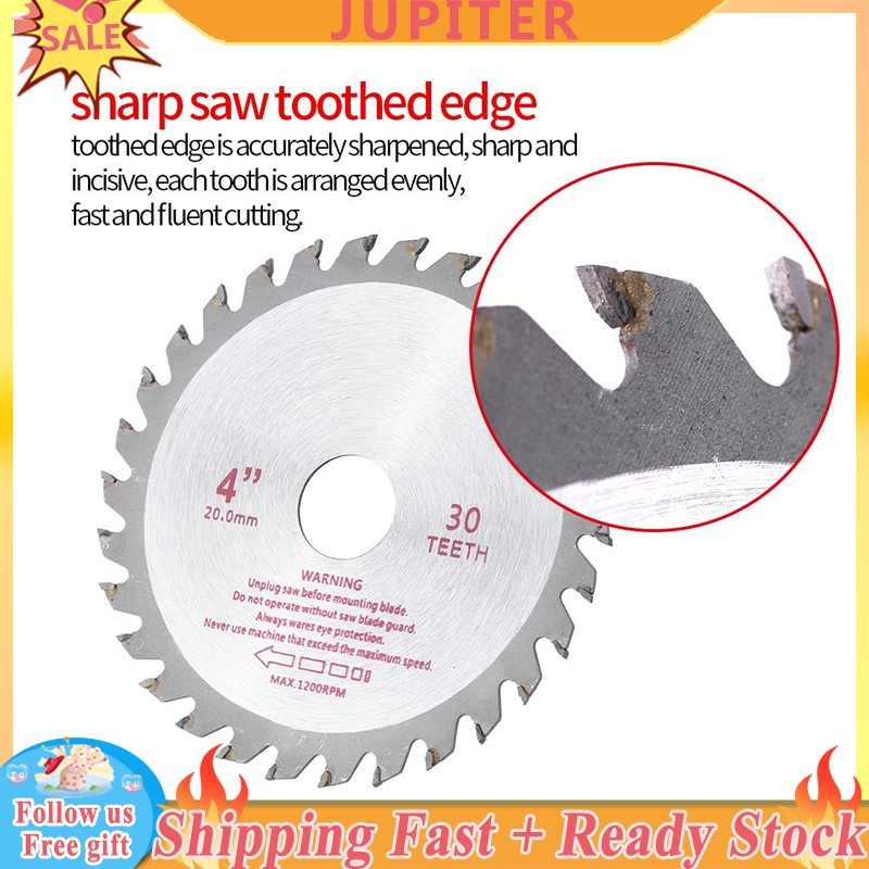 ❀JUPITER READY❀4inches 30T Teeth Cemented Carbide Circular Saw Blade Wood