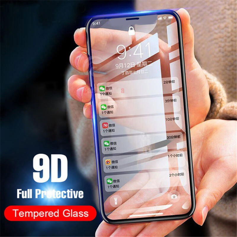 HD Full-Covered Clear Screen Protector Protective Film Tempered Glass For iPhone   Shopee Philippines