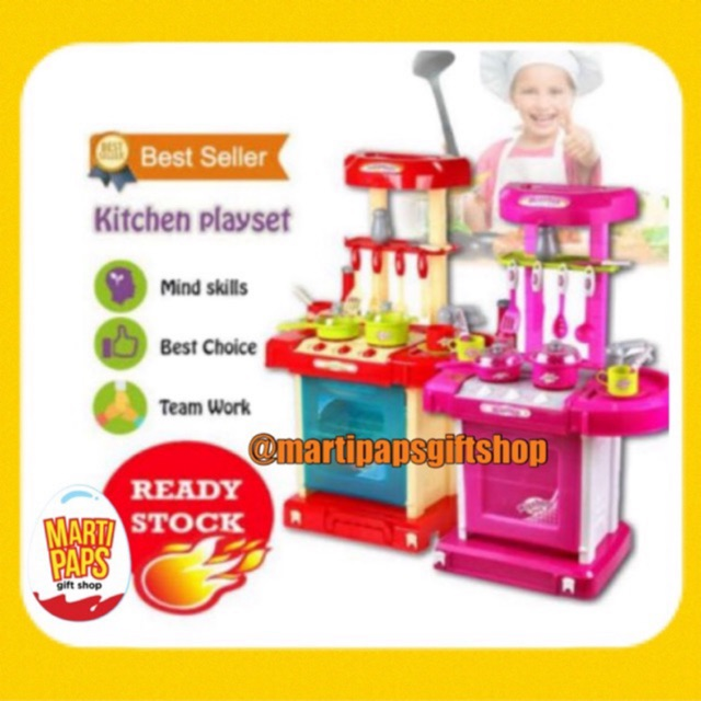 Best Seller Big Kitchen Set New Design With Working Faucet Water Available Shopee Philippines
