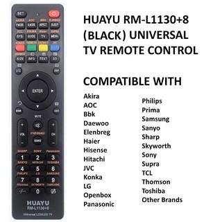 Huayu RM-L1107+8 Universal LCD / LED TV Remote Control | Shopee
