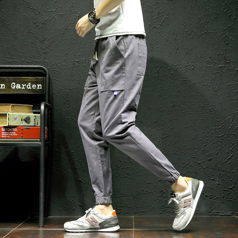 Men's Sweatpants Loose Trousers Pocket Pants  Leisure Slacks