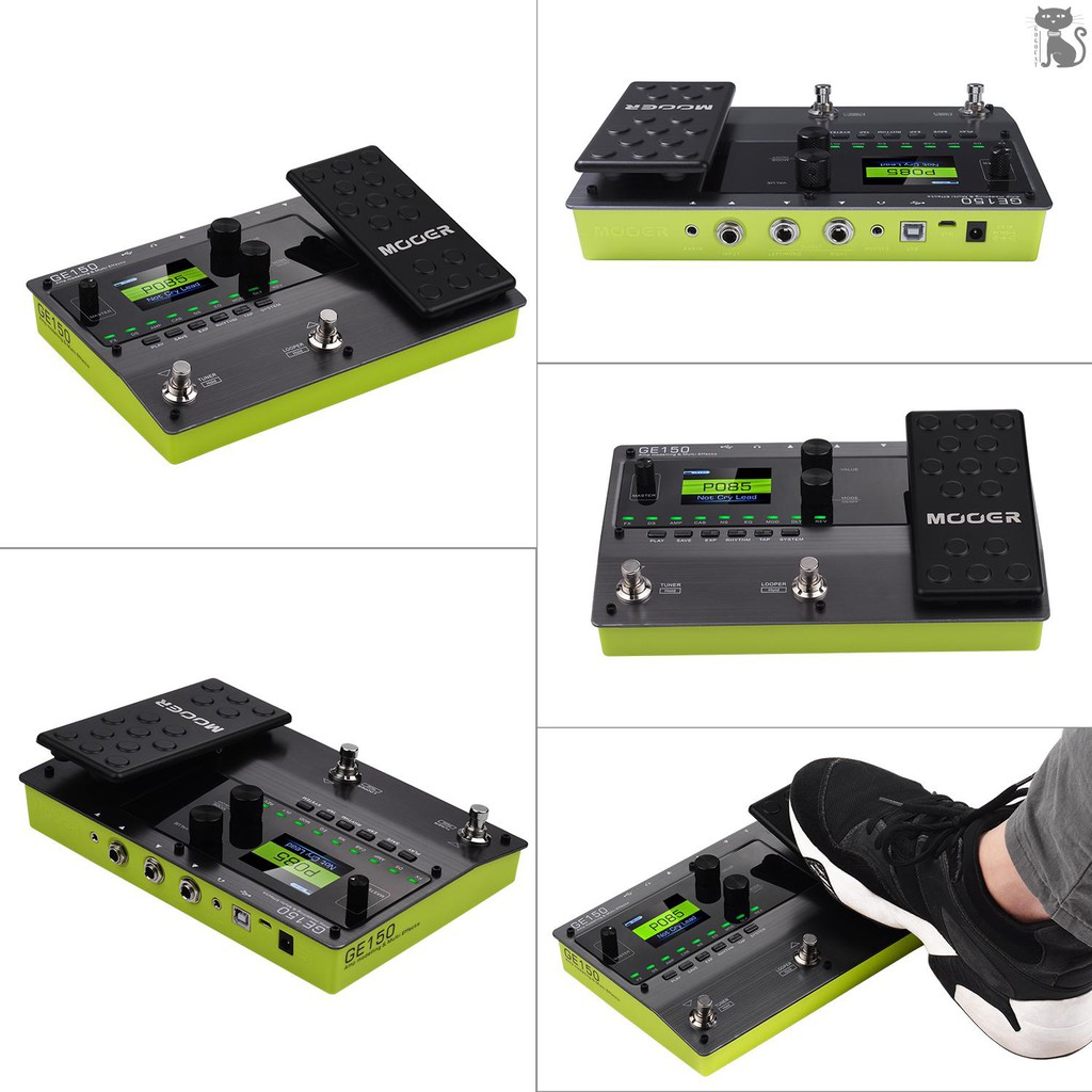 MOOER Amp Modelling /& Multi Effects Pedal 55 Amplifier Models 151 Effects 80s Looper 40 Drum Rhythms 10 Metronome Tap Tempo OTG Function