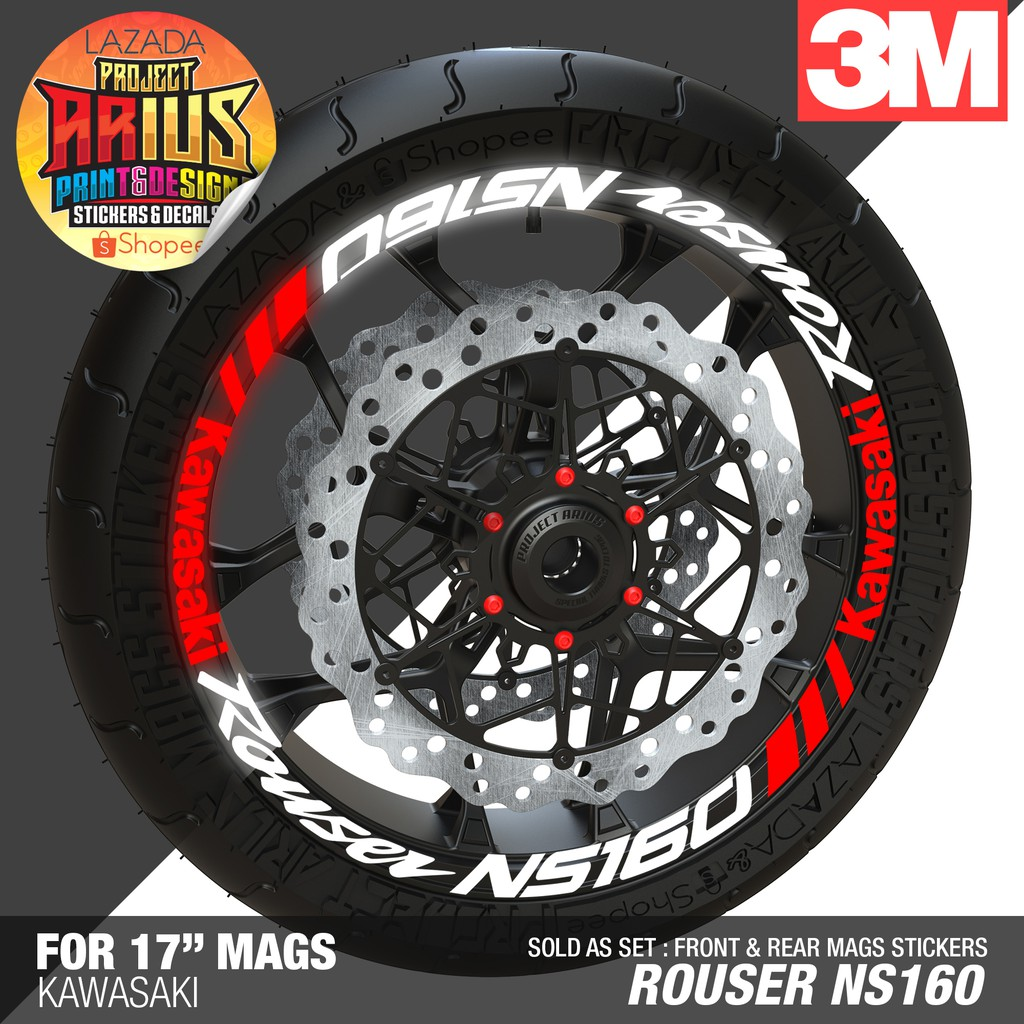 Pa kawasaki rouser 135ls highly reflective mags sticker shopee philippines