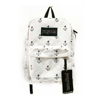 detailing clients first famous designer brand JanSport Bag - White Anchor Patterns