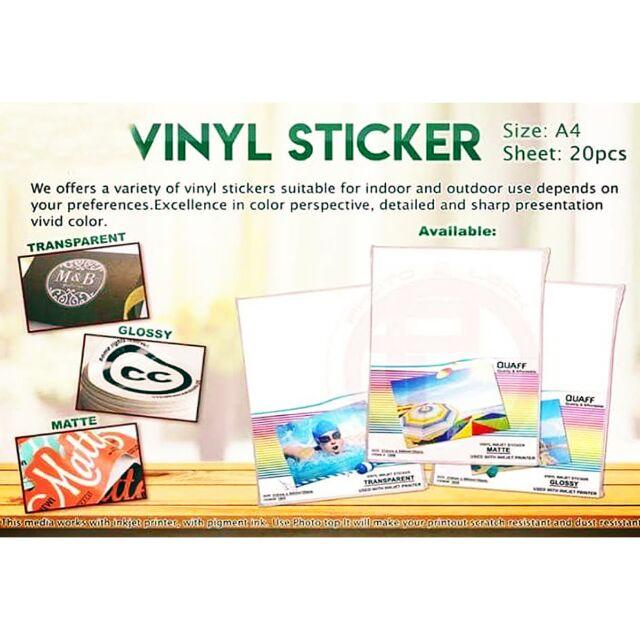 QUAFF A4 vinyl sticker