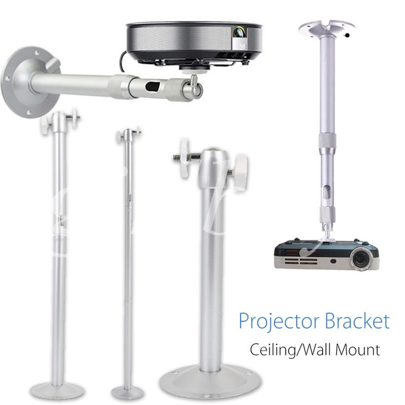 Universal Projector Wall Mount Ceiling Holder 5kg Loaded Silver Premium