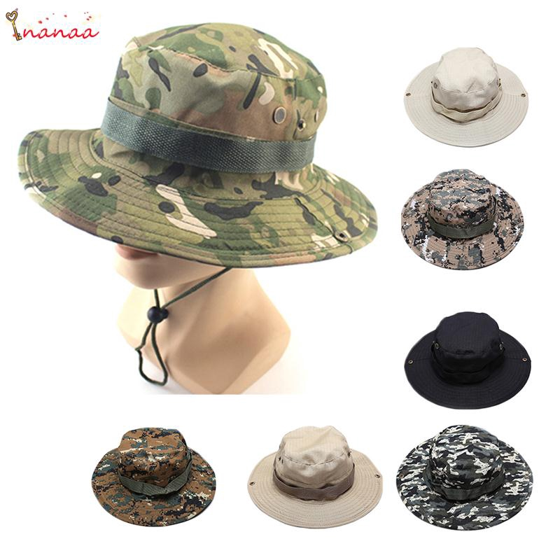 f4b5f74431e0aa Autumn Mens Bucket Hat Summer Boonie Fishing Hunting Travle Outdoor Cap |  Shopee Philippines