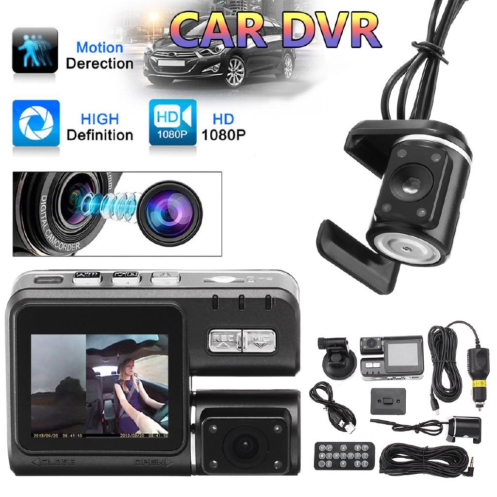 I1000 Dual Lens Car DVR Dash Cam with Rear view Camera Night